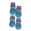 Skarpetki bawełniane dla psa miś błękitne