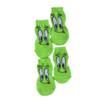 Skarpetki bawełniane dla psa zielone z językiem