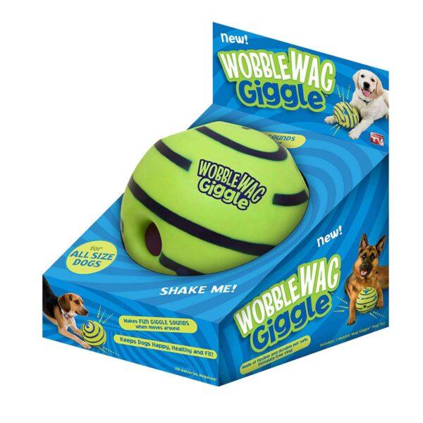 Interaktywna wytrzymała zabawka dla psa Wobble Wag