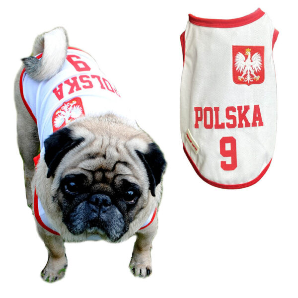 Koszulka DLa Psa Kota Reprezentacji Polska Numer 9