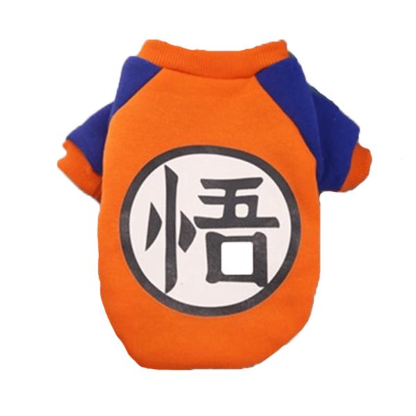 Elastyczna bluza dla psa dragonball goku tył