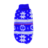 Sweter dla psa lub kota świąteczny niebieski w białe gwiazdki w równym szlaczku