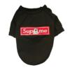 Czarna Bluza Dla Psa Naszywka Supreme z Kotem Fck You miniatura