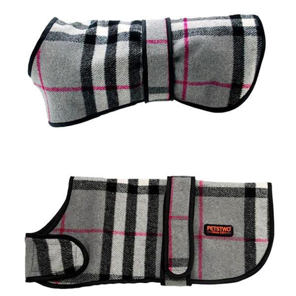Płaszcz wełniany, ubranko dla psa, dwustronne, strona wełniana