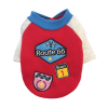dresowa bluza dla psa czerwona z naszywkami miniaturka