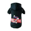 dresowa bluza dla psa Supreme czarna Snoopy na nartach streetwear miniaturka