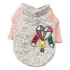 dresowa bluza dla psa szara różowe rękawy z naszywkami miniatura