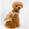 kurtka dla psa, kożuszek w stylu góralskim zapinany na napy, z futerkiem, kolor brązowy