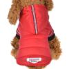 Pikowana kurtka dla psa kaptur napy czerwona model