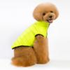 Ocieplana puchem kurtka dla psa, posiada rozcięcie na smycz, kolor żółty