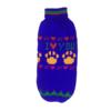 Sweter dla psa lub kota granatowy z żółtymi łapami i napisem
