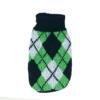 Sweter dla psa lub kota zielono-biały z czarnymi trójkątami