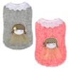Uroczy mięciutki sweterek dla psa, księżniczka, różowa zbliżenie, szary, różowy