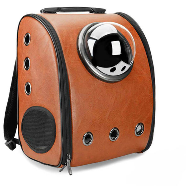 Plecak transporter dla psa lub kota kolor brązowy