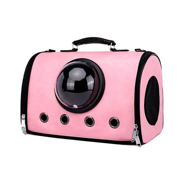 Torba transportowa na ramię dla psa lub kota kolor różowy