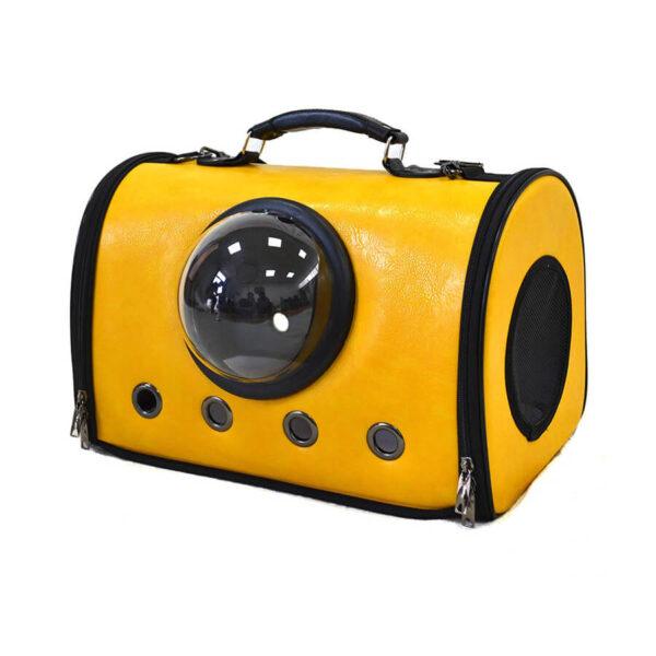 Torba transportowa na ramię dla psa lub kota kolor żółty