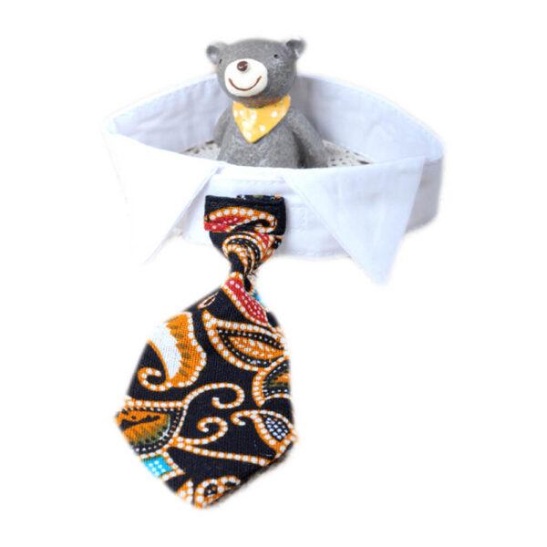 Kołnierzyk z krawatem dla psa Aztec