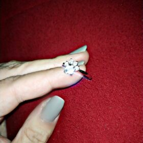 Pierścionek srebrny z łapką psa kota Zarina photo review