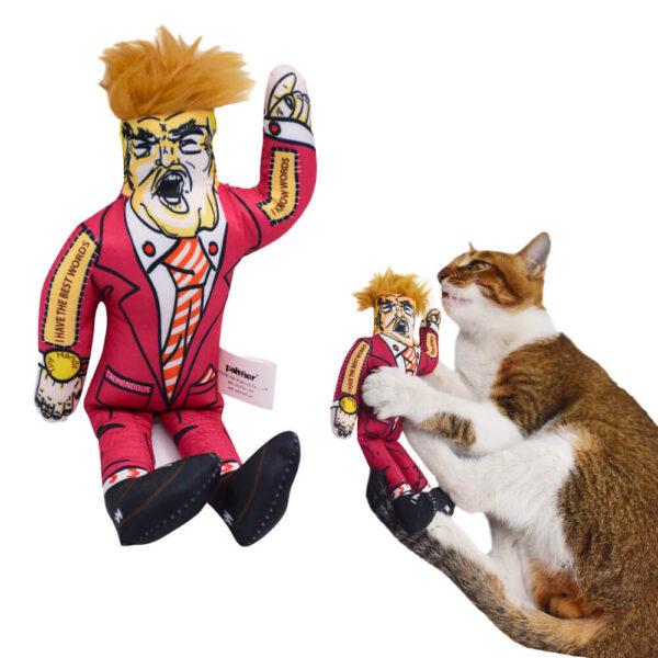 Zabawka dla kota TRUMPek z czupryną kot