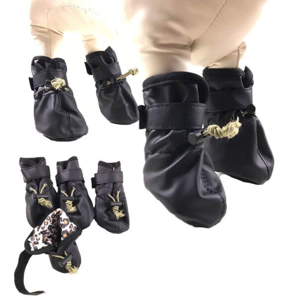 Czarne Buty Dla Dużego Psa Z Ściągaczami i Rzepami Welter Miniaturka