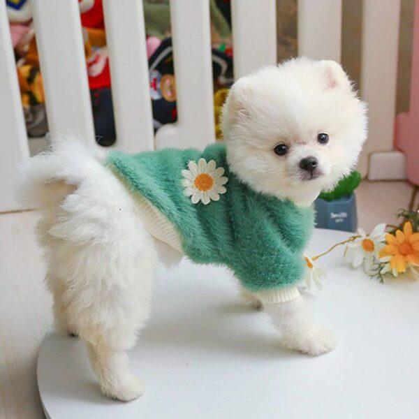 Sweter dla psa BLOOM zielony bok