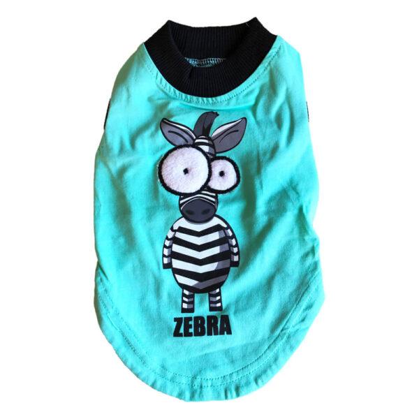 Bawełniana Koszulka Dla Psa ZOO Zielona Zebra