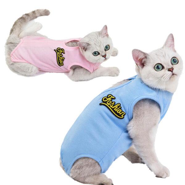 Ubranko Pooperacyjne Dla Kota Medikot Różowe Niebieskie Kolory Koty