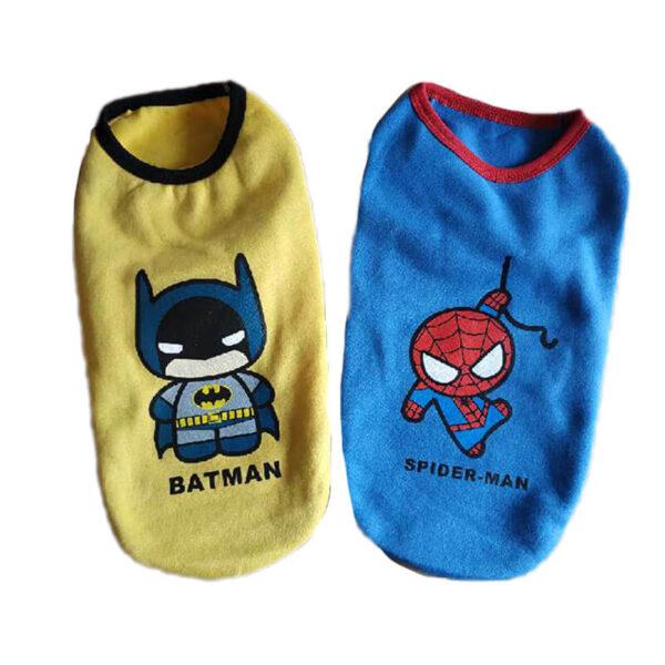 Bluza dla psa SUPERBOHATER niebieska i żółta przodem