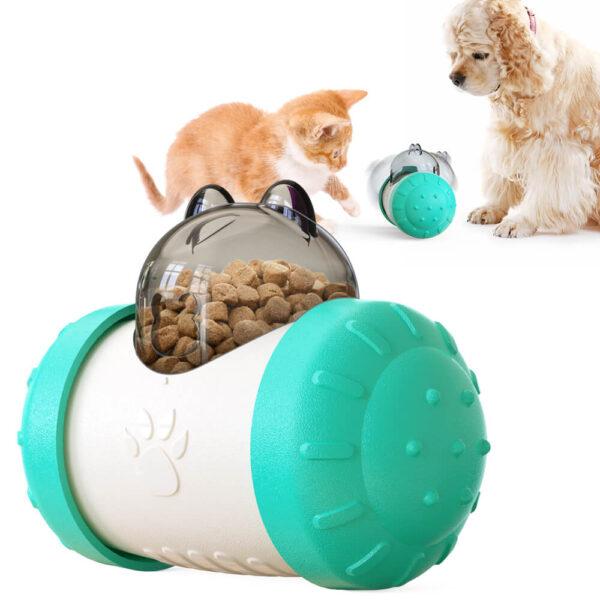 Interaktywna zabawka dla kota lub psa ROLLO turkusowa miniatura