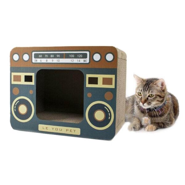 Kartonowy drapak domek dla kota 2w1 RADIOCAT mianiaturka