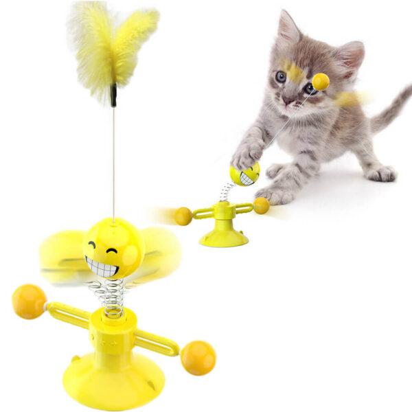Interaktywna zabawka dla kota z piórkiem Smil