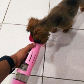 Butelka dla psa podróżna PETRAVEL z miską i pojemnikiem na karmę photo review