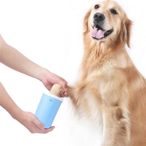 Czyścik do łap dla dużego psa Petinio Beauty golden retriever