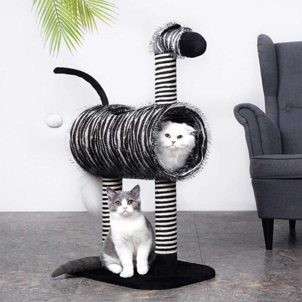 Drapak dla kota zebra marty kot w drapaku kot na drapaku miniaturka