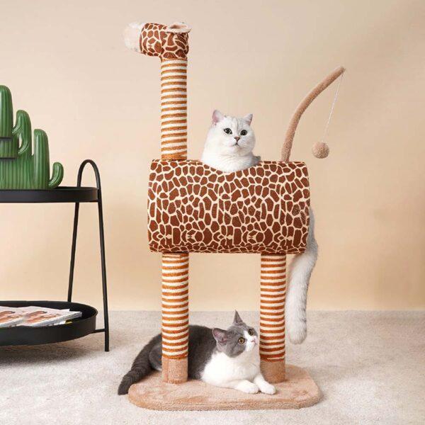Drapak dla kora żyrafa melman koty na drapaku miniaturka