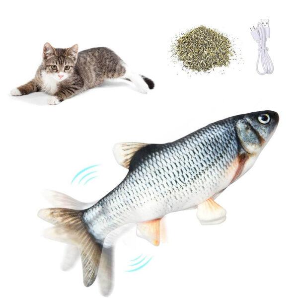 Skacząca Ryba Dla Kota Kelwin Kleń Na Białym Tle