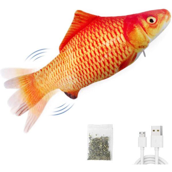Elektryczna Ryba dla Kota Złoty Karp Goldi Kocimiętką
