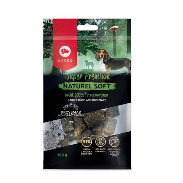 Przysmak dla psa maced królik z rozmarynem naturel soft 100g opakowanie
