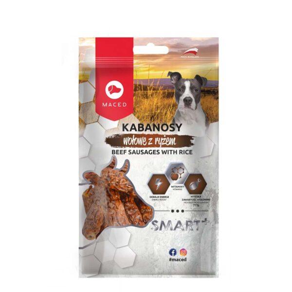 Przysmak dla psa maced smart kabanos wołowy z ryżem 100g opakowanie