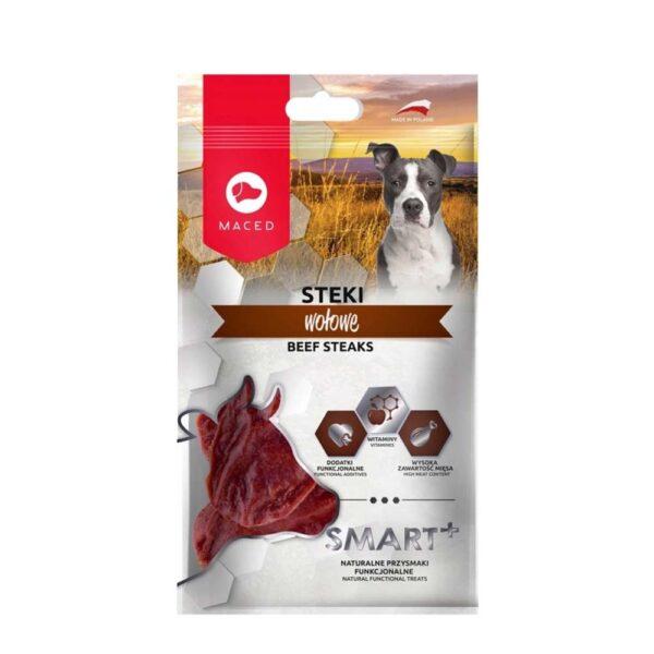 Przysmak dla psa maced smart steki wołowe 100g opakowanie